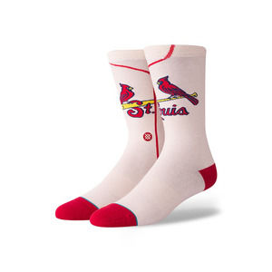 Stance MLB St. Louis Cardinals Off White Crew Sock